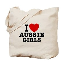 I Love Aussie Girls Tote Bag
