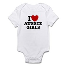 I Love Aussie Girls Infant Bodysuit