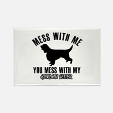 Mess With Gordon Setter Rectangle Magnet (10 pack)