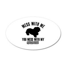 Mess With Havanese Wall Decal