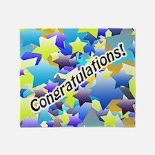 Congratulation Stars Throw Blanket