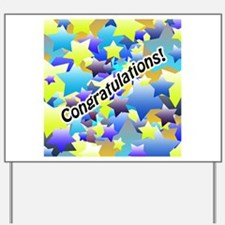 Congratulation Stars Yard Sign