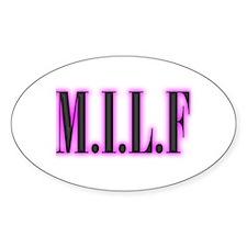 MILF Oval Stickers