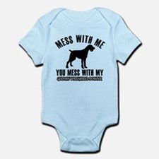 Mess With German Wirehaired Pointe Infant Bodysuit