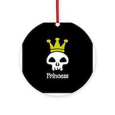 Skull Princess Ornament (Round)