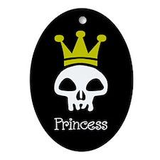 Skull Princess Oval Ornament