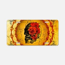 Awesome skull Aluminum License Plate