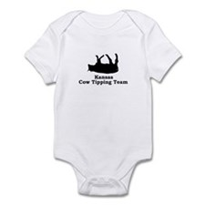 Kansas Cow Tipping Infant Bodysuit