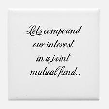 Compound Our Interest Tile Coaster