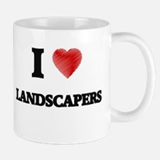 I Love Landscapers Mugs