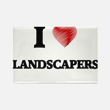 I Love Landscapers Magnets