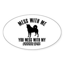 Mess With Finnish Spitz Decal