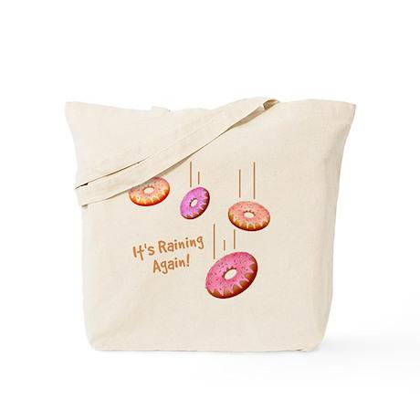 Raining Donuts Tote Bag