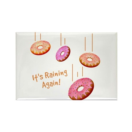 Raining Donuts Rectangle Magnet (10 pack)