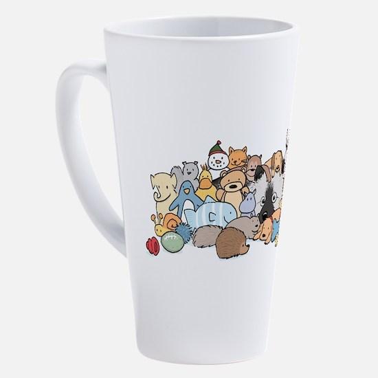 Cute Keeshond non sporting breed 17 oz Latte Mug