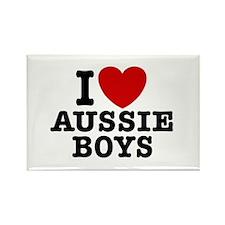 I Love Aussie Boys Rectangle Magnet