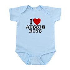 I Love Aussie Boys Infant Bodysuit