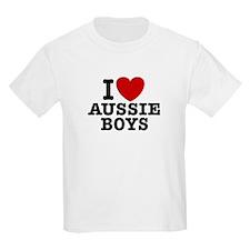 I Love Aussie Boys T-Shirt