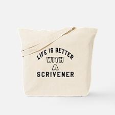 Scrivener Designs Tote Bag