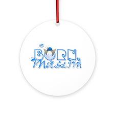 Born Muslim (blue) Ornament (Round)