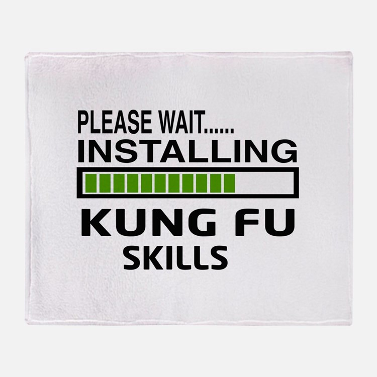 Please wait, Installing Kung Fu skil Throw Blanket
