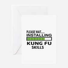 Please wait, Installing Kung Fu skil Greeting Card