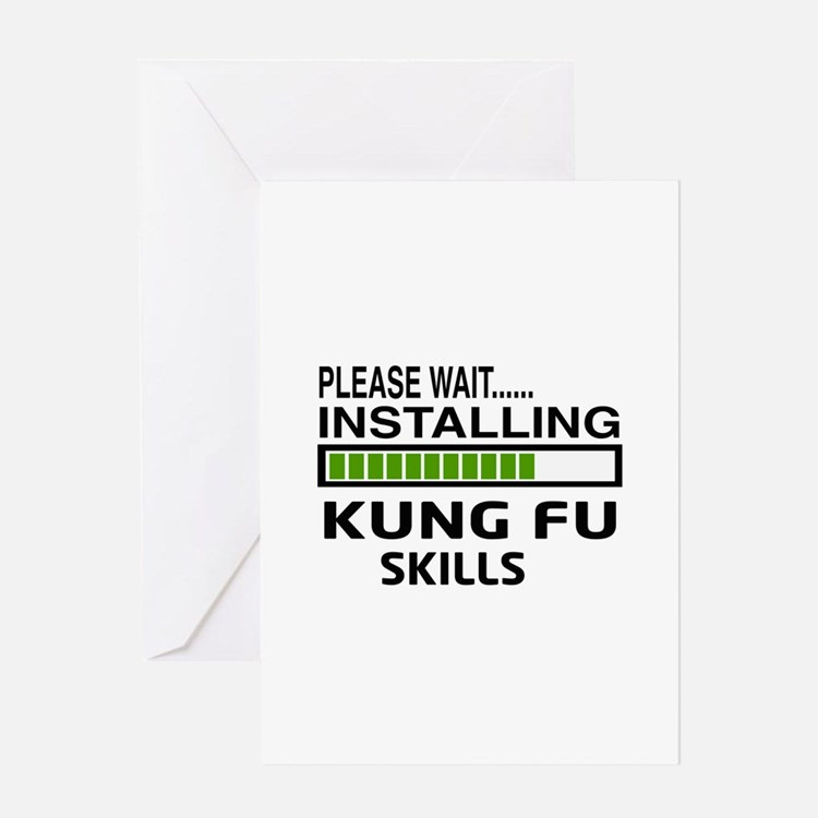 Please wait, Installing Kung Fu skil Greeting Card