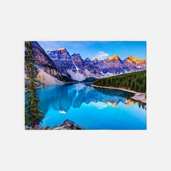 Beautiful Mountain Landscape 5'x7'Area Rug