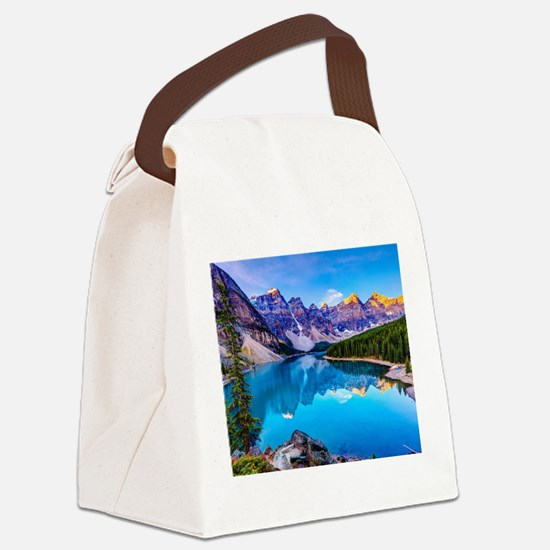 Beautiful Mountain Landscape Canvas Lunch Bag