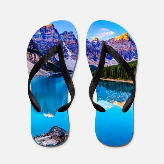Beautiful Mountain Landscape Flip Flops