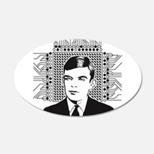 Alan Turing Portrait Wall Decal