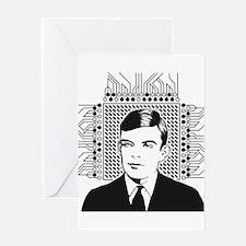 Alan Turing Portrait Greeting Cards