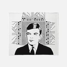 Alan Turing Portrait Throw Blanket