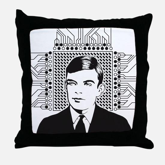 Alan Turing Portrait Throw Pillow
