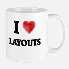 I Love Layouts Mugs