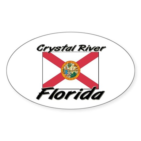 Crystal River Florida Oval Sticker