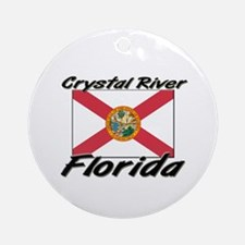 Crystal River Florida Ornament (Round)