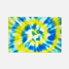 Summer Tie Dye - Yellow and Aqua Rectangle Magnet