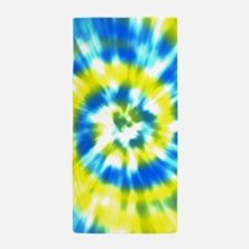 Summer Tie Dye - Yellow and Aqua Beach Towel
