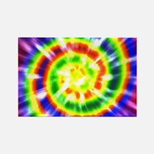 Retro Tie Dye - Groovy Colors Rectangle Magnet