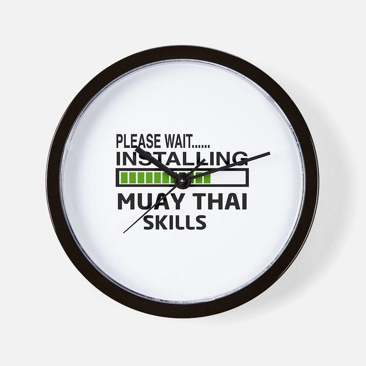 Please wait, Installing Muay Thai skill Wall Clock