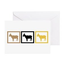 Goat Squares Greeting Cards (Pk of 20)