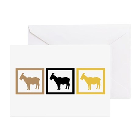 Goat Squares Greeting Cards (Pk of 10)