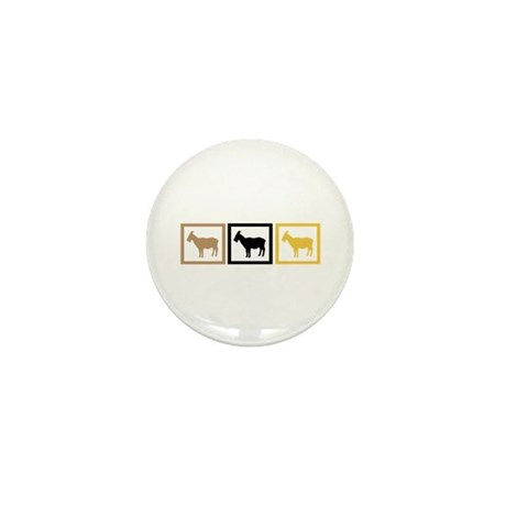 Goat Squares Mini Button