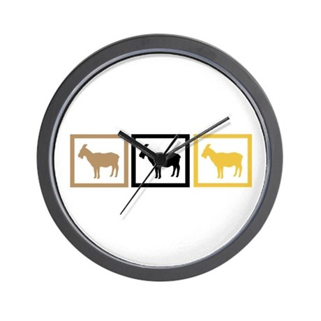 Goat Squares Wall Clock