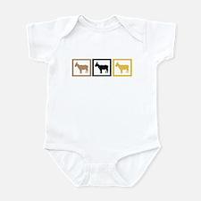 Goat Squares Infant Bodysuit
