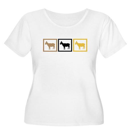 Goat Squares Women's Plus Size Scoop Neck T-Shirt