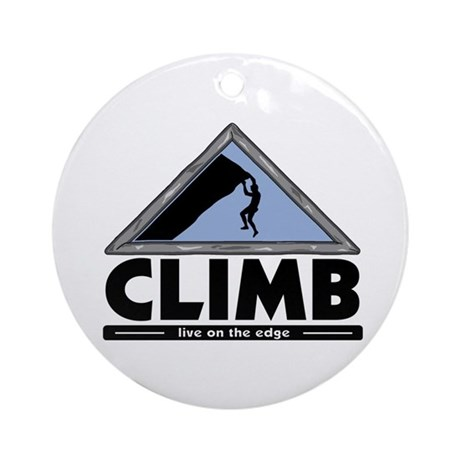Rock Climbing Ornament (Round)