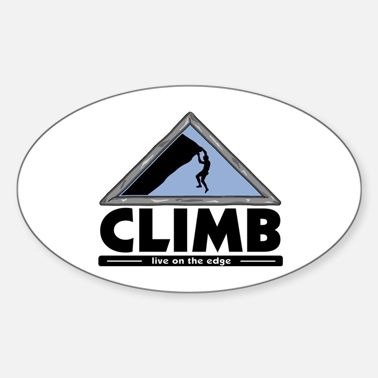 Rock Climbing Oval Decal