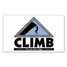 Rock Climbing Rectangle Decal
